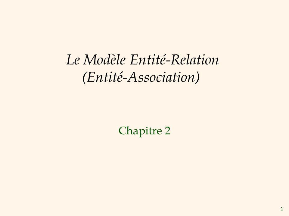Le Modèle Entité-Relation (Entité-Association)