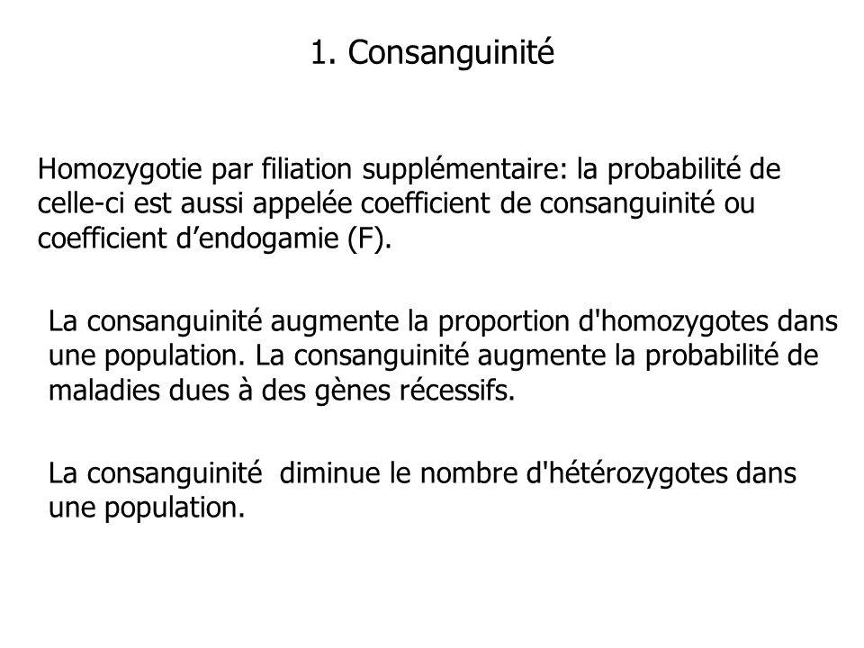 1. Consanguinité