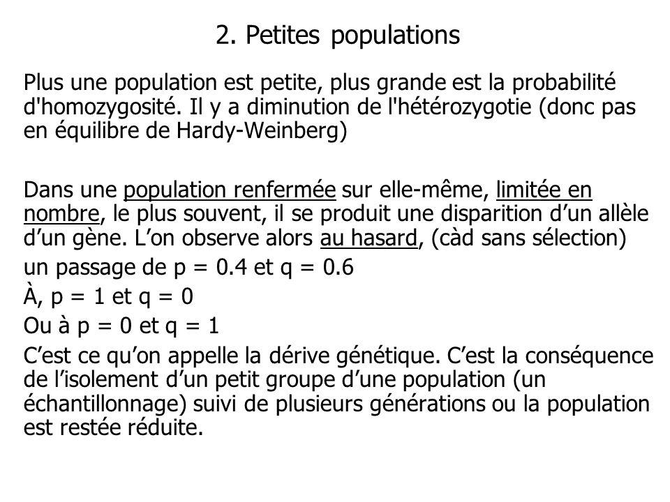2. Petites populations