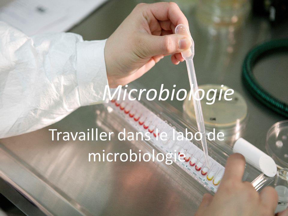 Travailler dans le labo de microbiologie