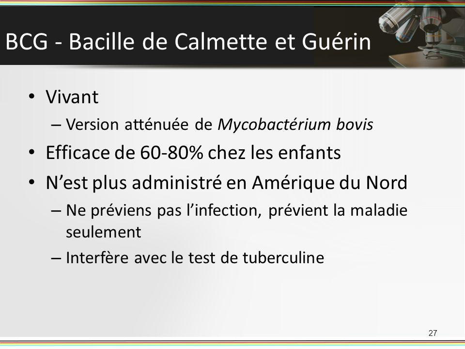 BCG - Bacille de Calmette et Guérin
