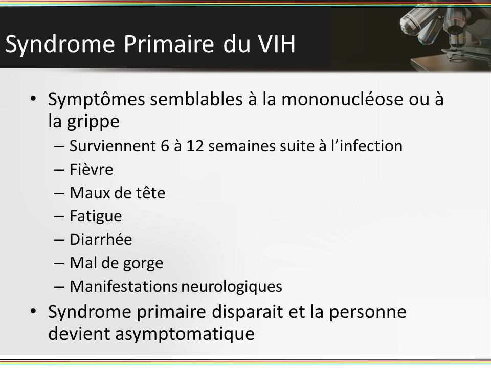 Syndrome Primaire du VIH