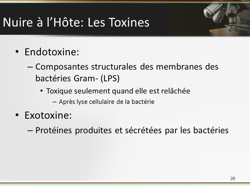 Nuire à l'Hôte: Les Toxines