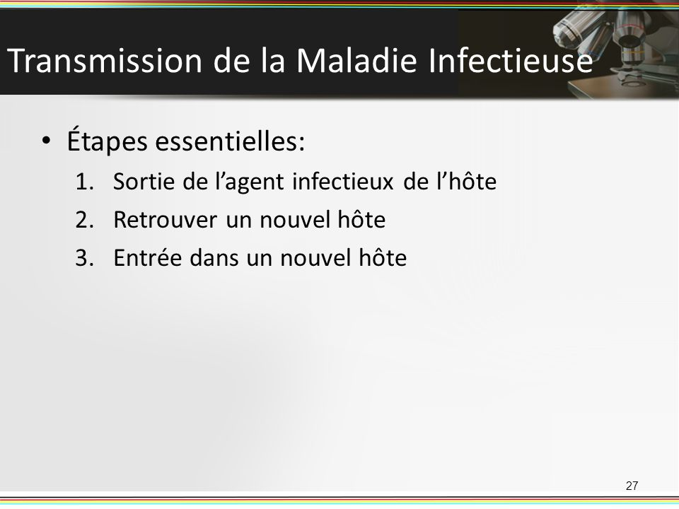 Transmission de la Maladie Infectieuse