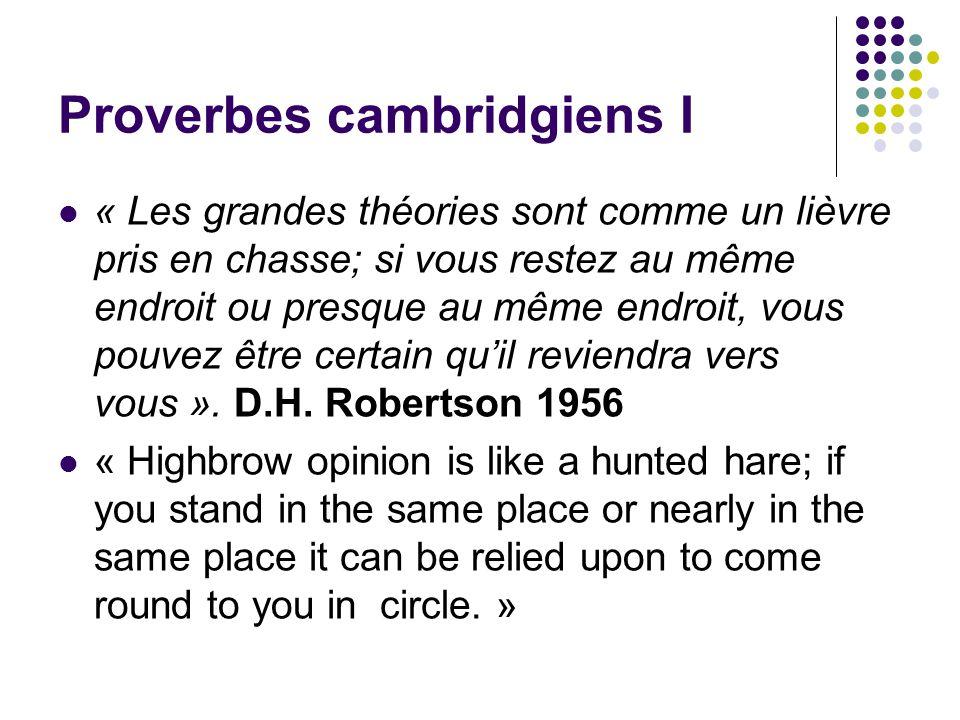Proverbes cambridgiens I