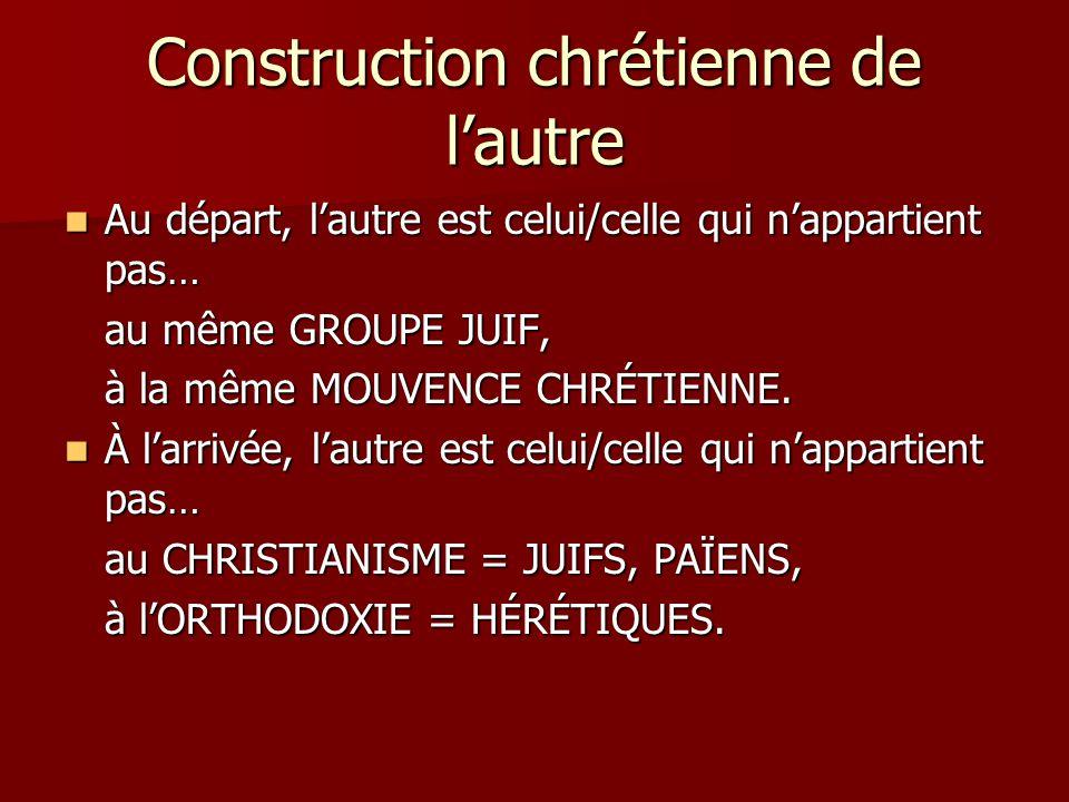 Construction chrétienne de l'autre
