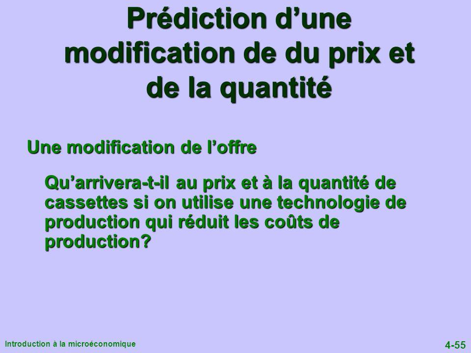 Prédiction d'une modification de du prix et de la quantité