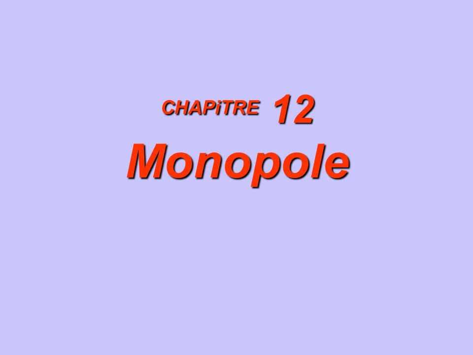 CHAPiTRE 12 Monopole 1