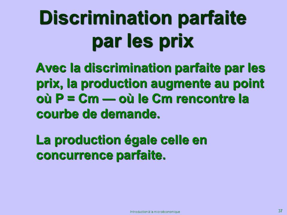 Discrimination parfaite par les prix