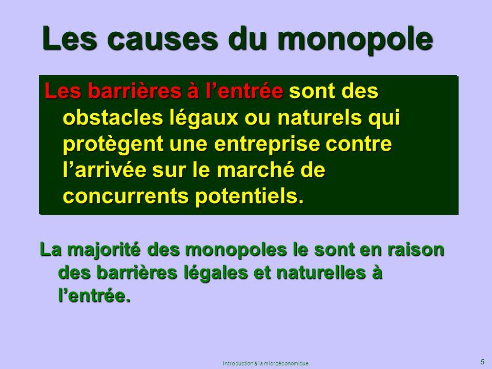 Les causes du monopole