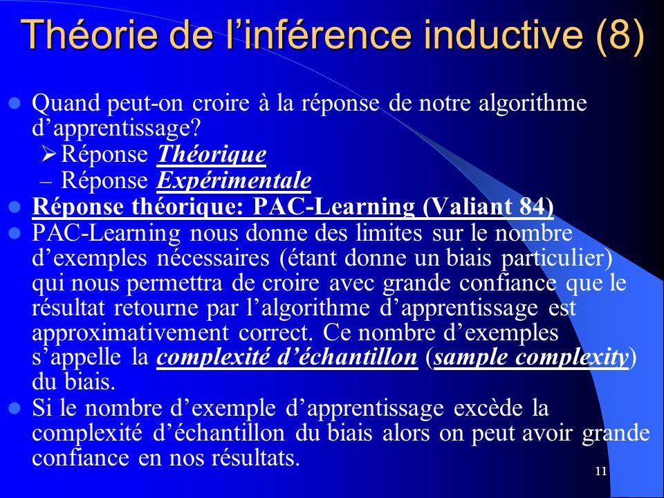 Théorie de l'inférence inductive (8)