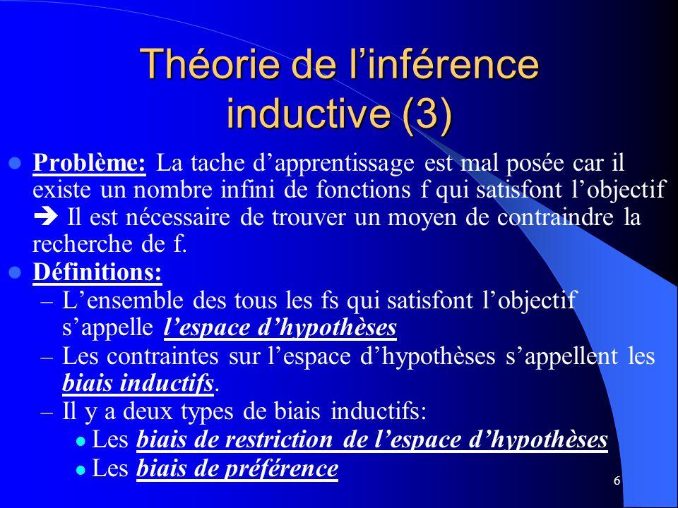 Théorie de l'inférence inductive (3)