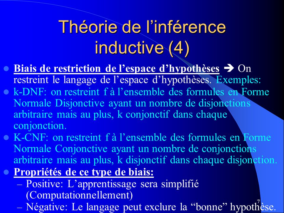 Théorie de l'inférence inductive (4)
