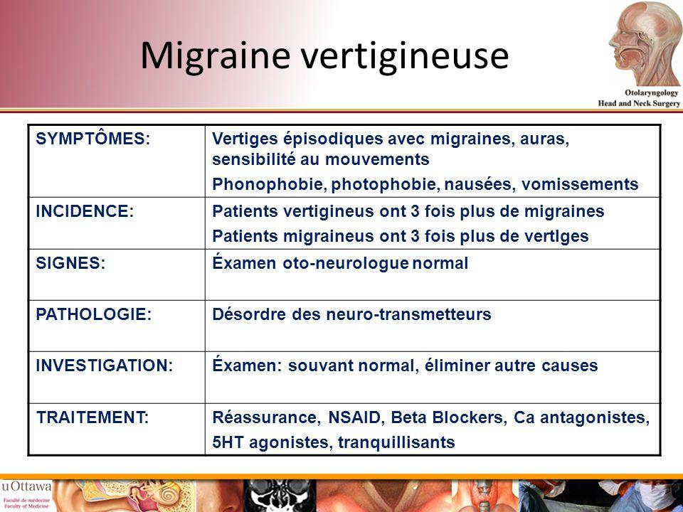 Migraine vertigineuse