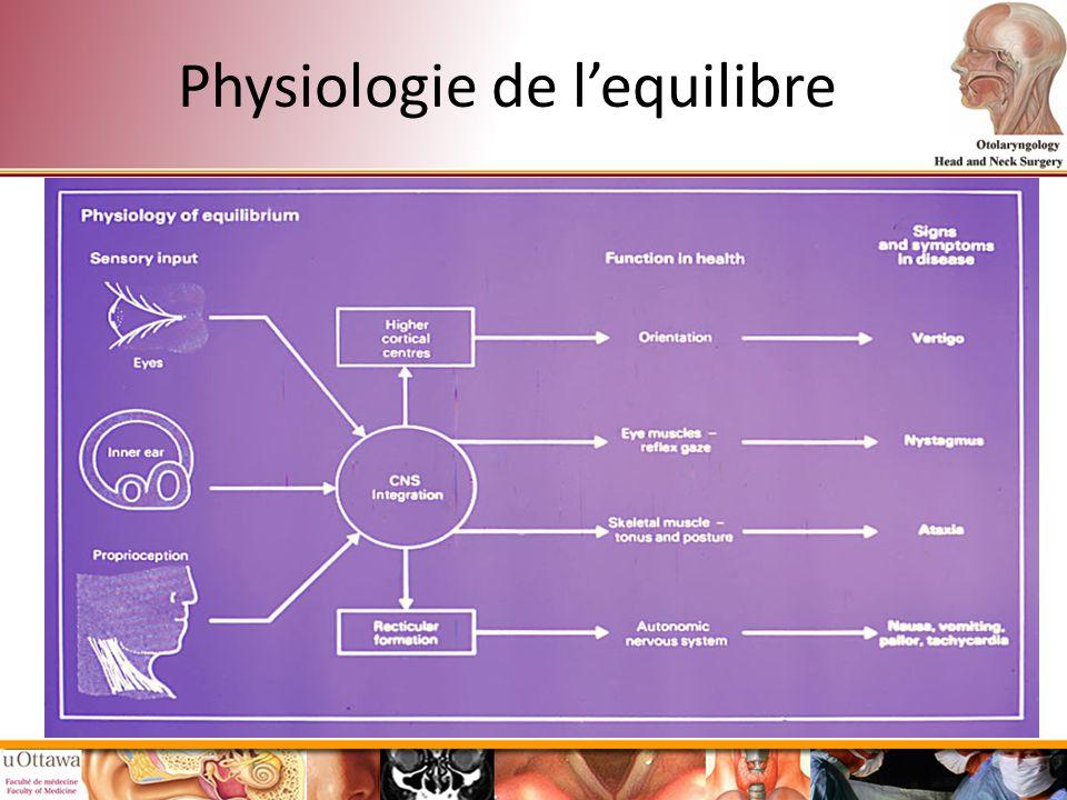 Physiologie de l'equilibre