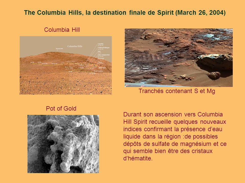 The Columbia Hills, la destination finale de Spirit (March 26, 2004)