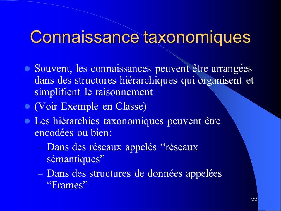 Connaissance taxonomiques