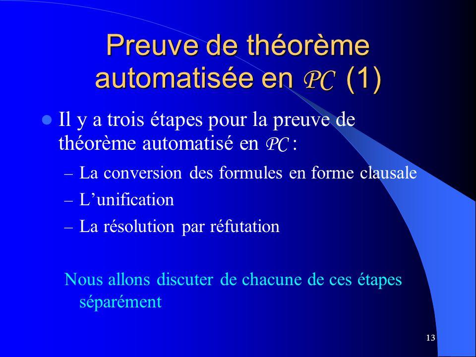 Preuve de théorème automatisée en PC (1)