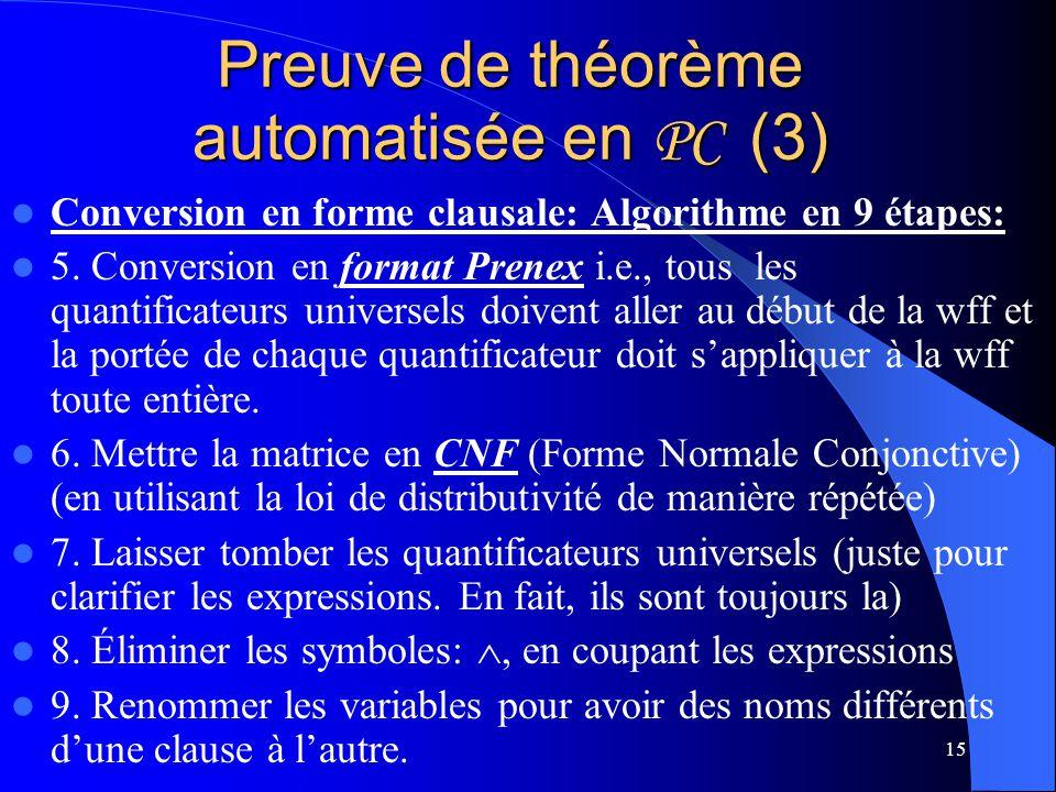 Preuve de théorème automatisée en PC (3)