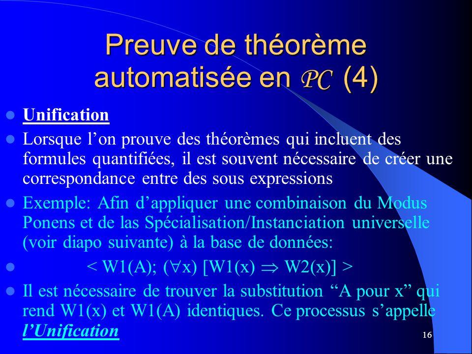 Preuve de théorème automatisée en PC (4)