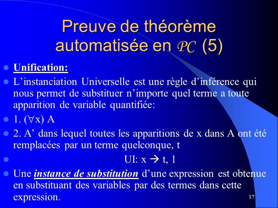 Preuve de théorème automatisée en PC (5)