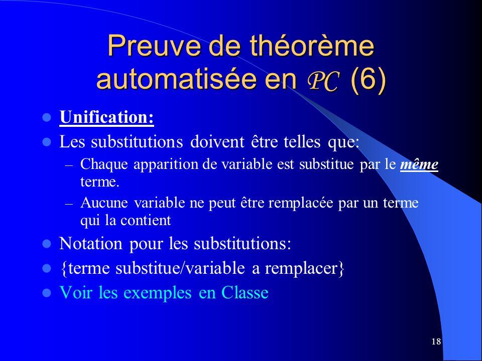 Preuve de théorème automatisée en PC (6)