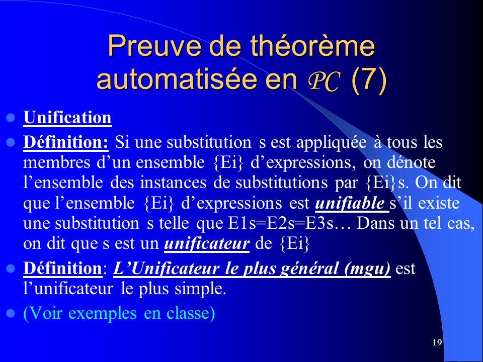 Preuve de théorème automatisée en PC (7)