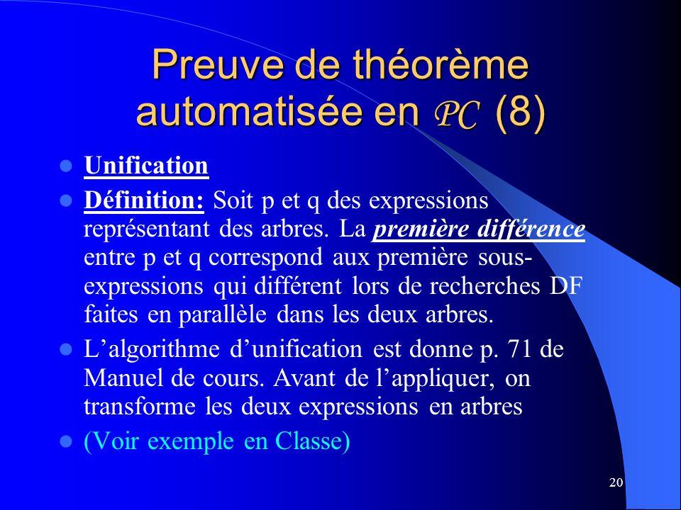 Preuve de théorème automatisée en PC (8)