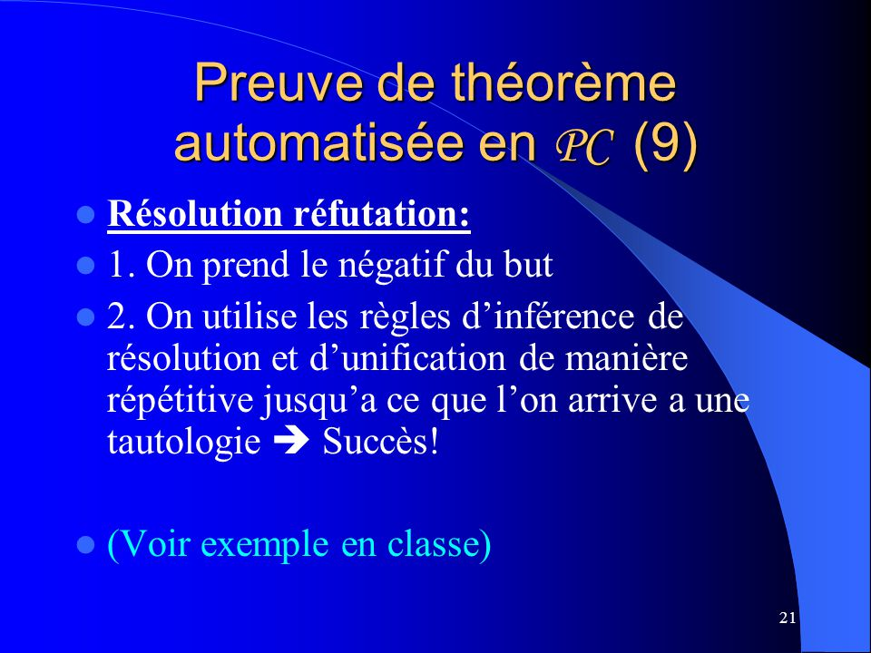 Preuve de théorème automatisée en PC (9)
