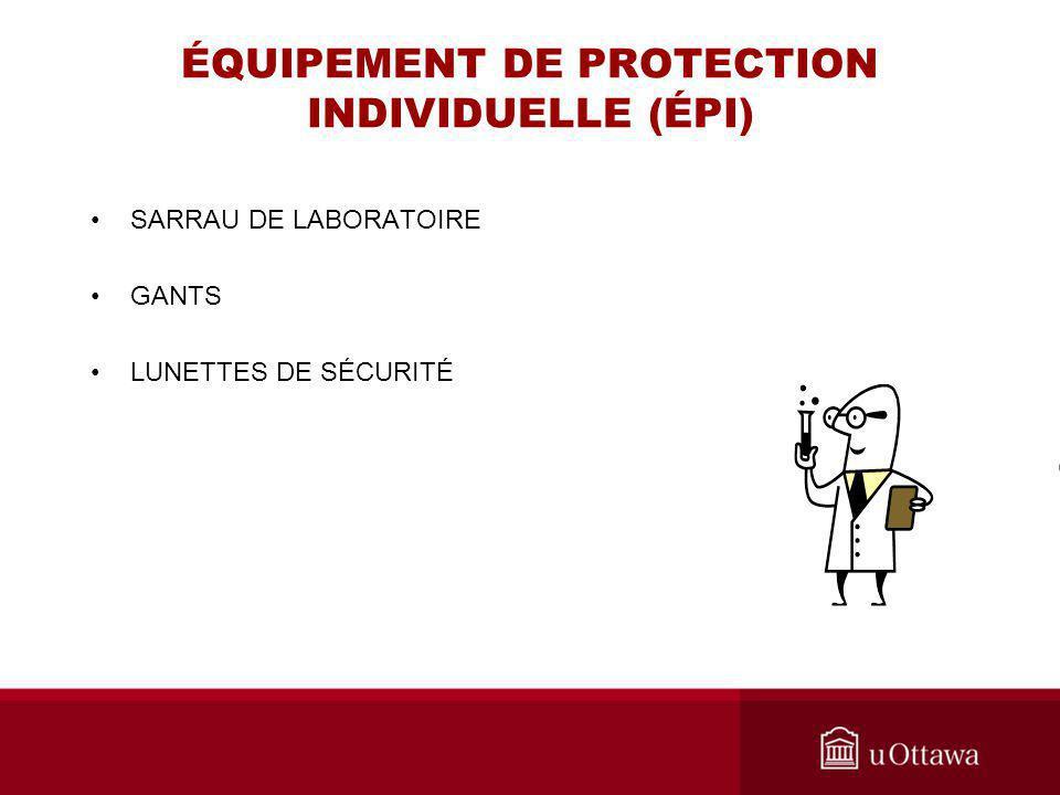 ÉQUIPEMENT DE PROTECTION INDIVIDUELLE (ÉPI)