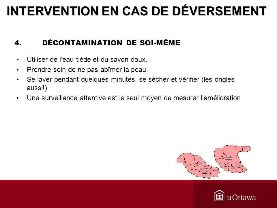4. DÉCONTAMINATION DE SOI-MÊME