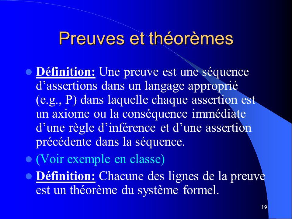 Preuves et théorèmes