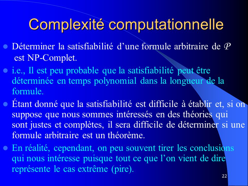 Complexité computationnelle