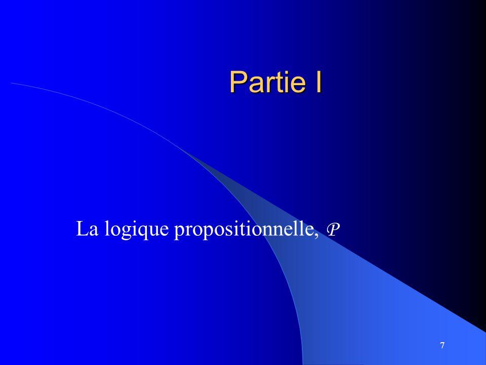 La logique propositionnelle, P