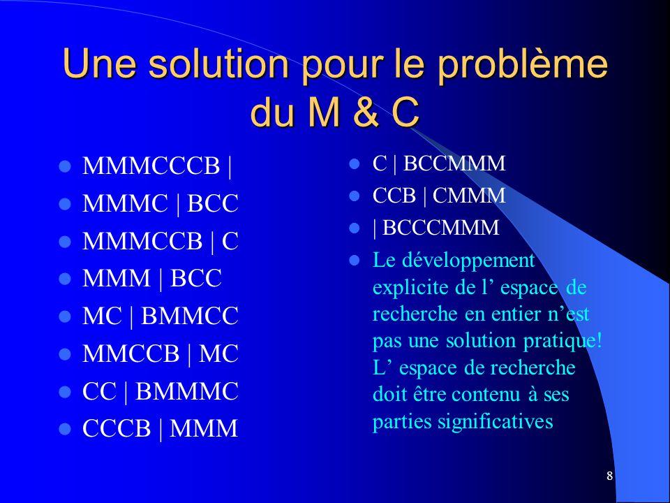Une solution pour le problème du M & C