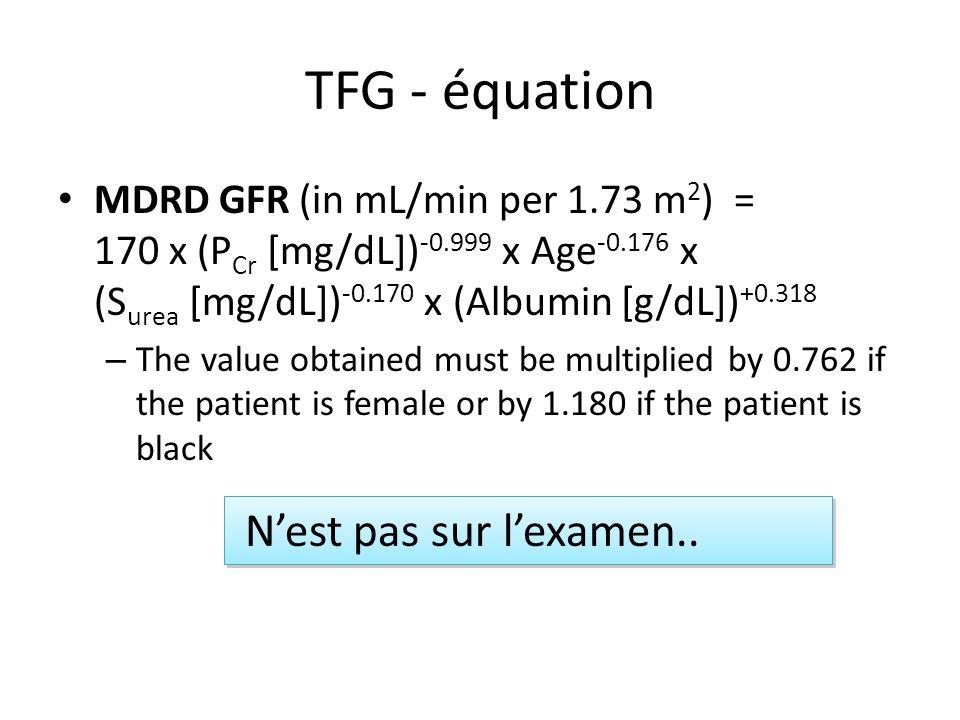 TFG - équation N'est pas sur l'examen..
