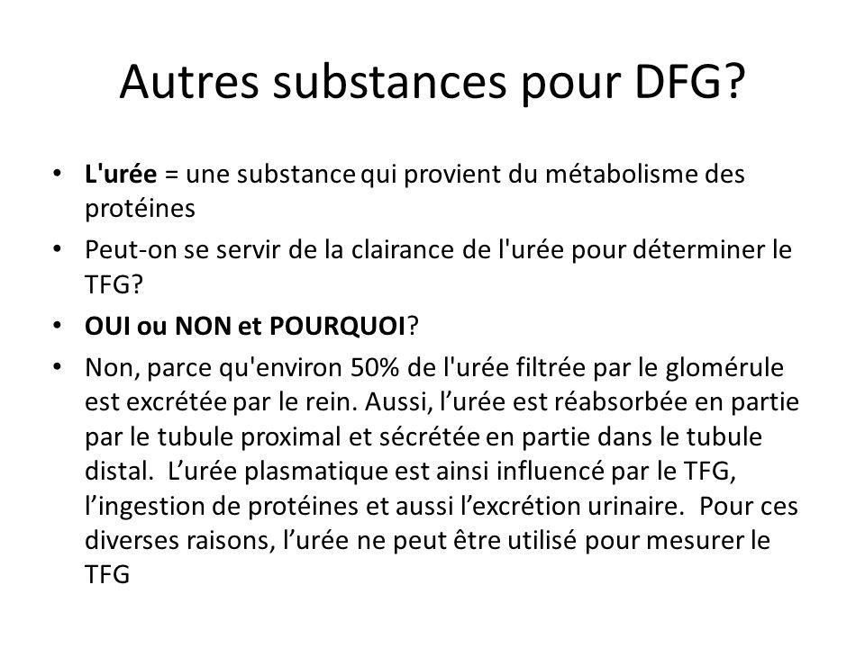 Autres substances pour DFG