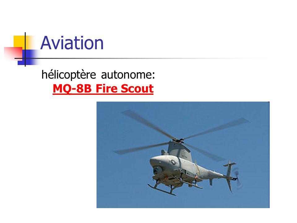 Aviation hélicoptère autonome: MQ-8B Fire Scout