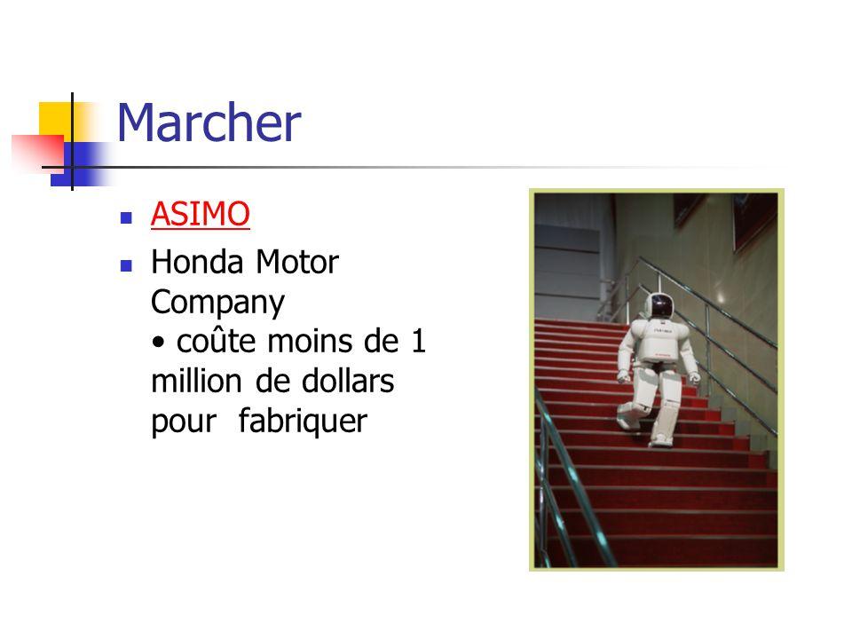 Marcher ASIMO Honda Motor Company • coûte moins de 1 million de dollars pour fabriquer