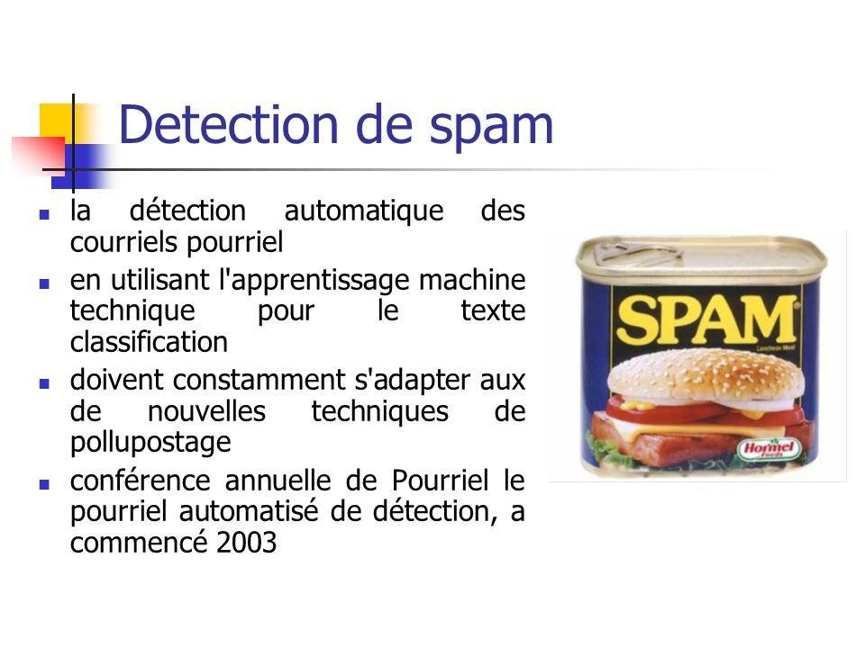 Detection de spam la détection automatique des courriels pourriel