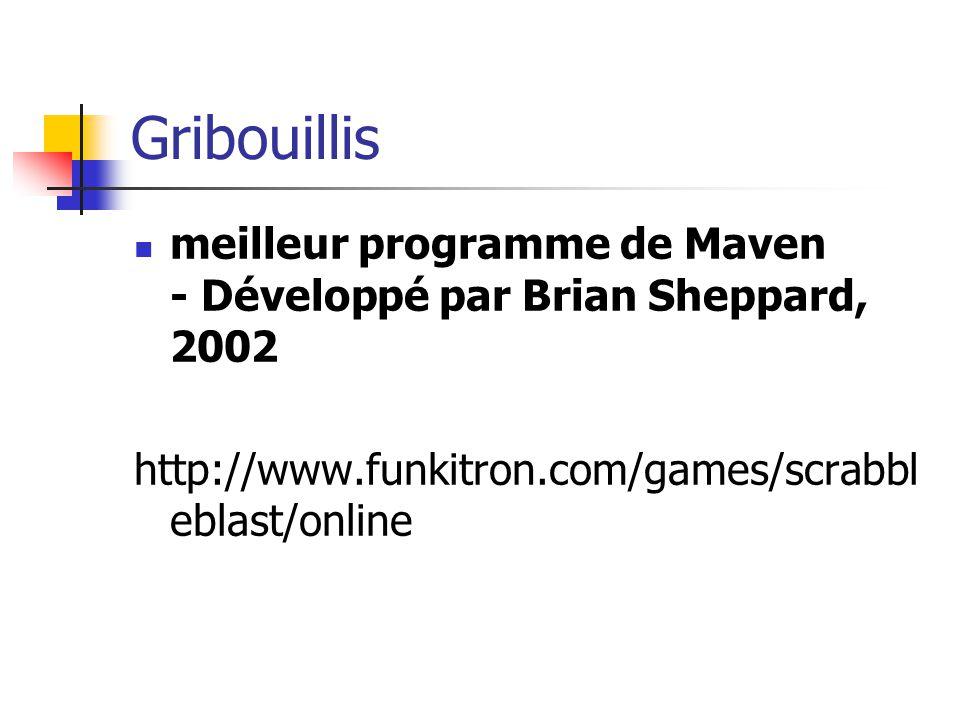 Gribouillis meilleur programme de Maven - Développé par Brian Sheppard, 2002.