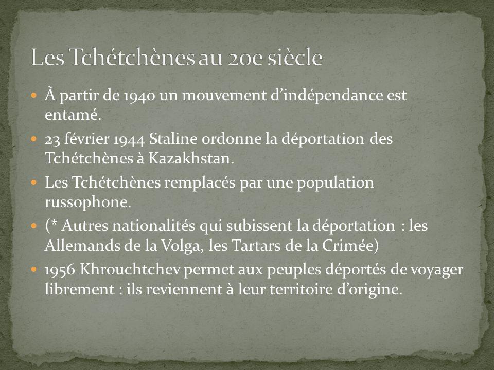 Les Tchétchènes au 20e siècle
