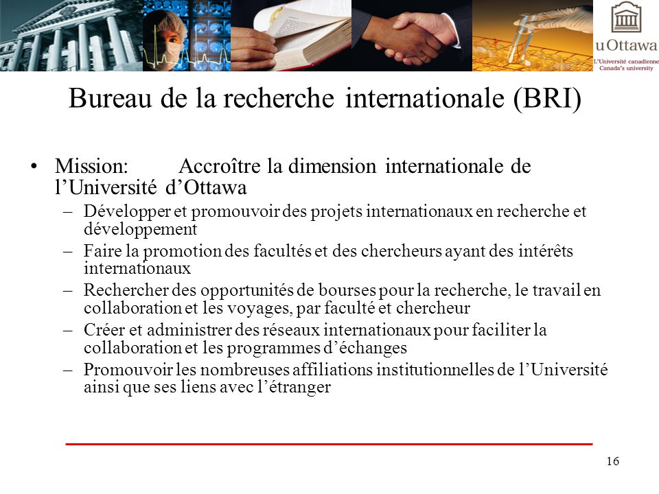 Bureau de la recherche internationale (BRI)