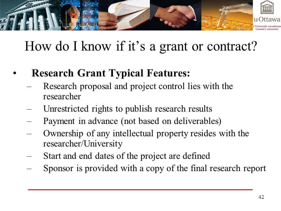 How do I know if it's a grant or contract