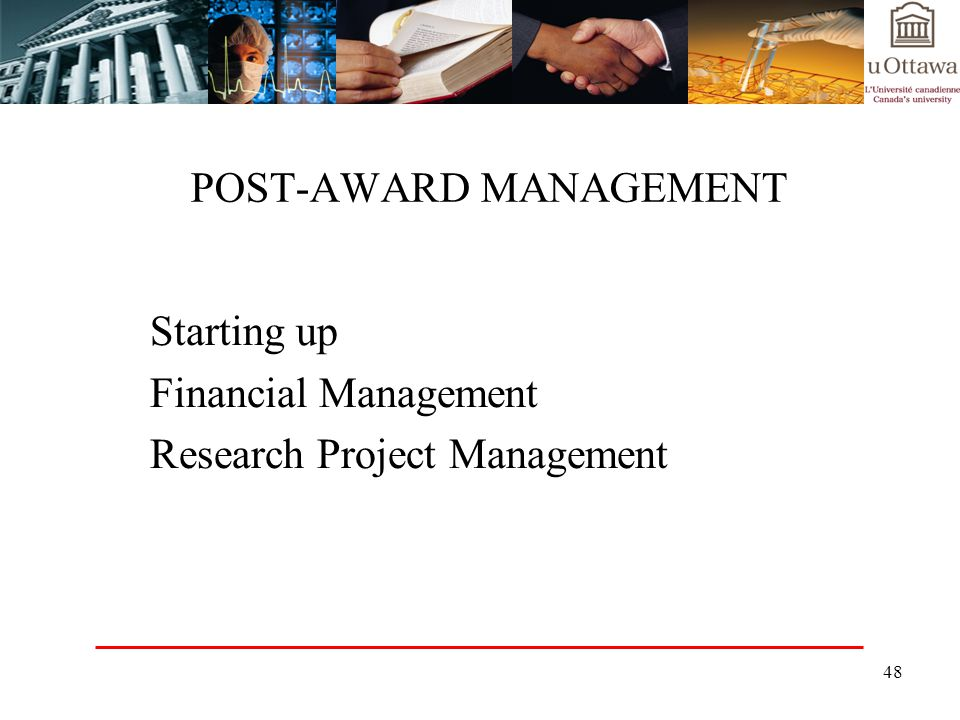 POST-AWARD MANAGEMENT