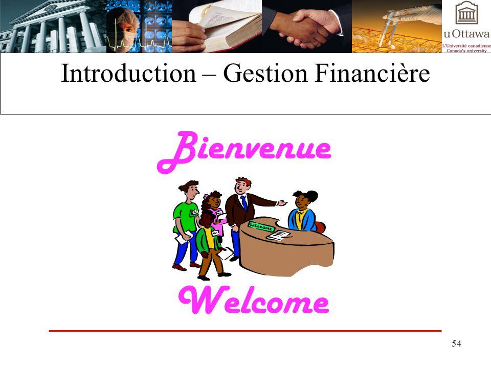 Introduction – Gestion Financière