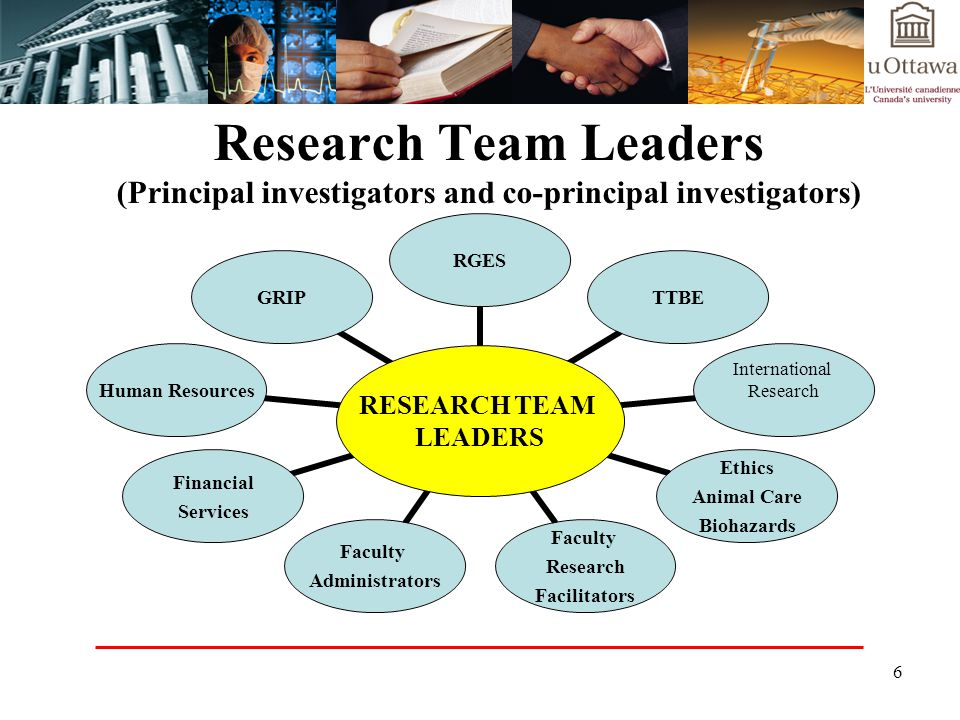 Research Team Leaders (Principal investigators and co-principal investigators)