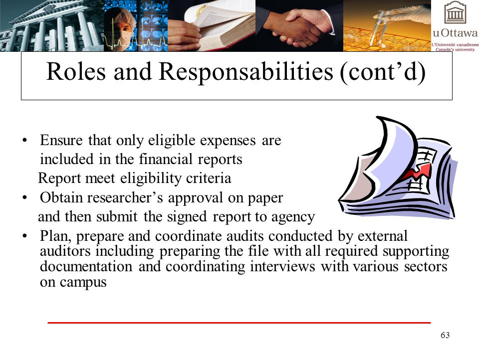 Roles and Responsabilities (cont'd)