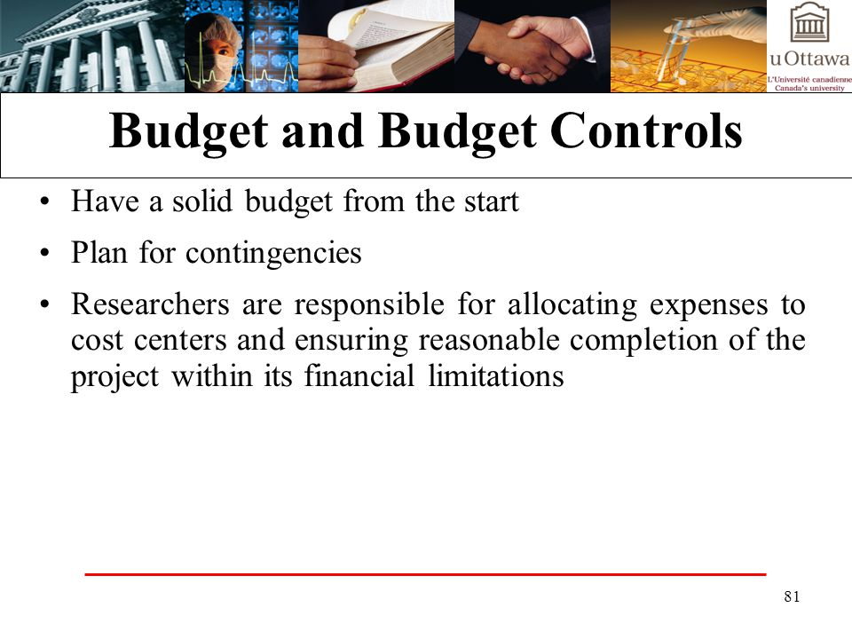 Budget and Budget Controls