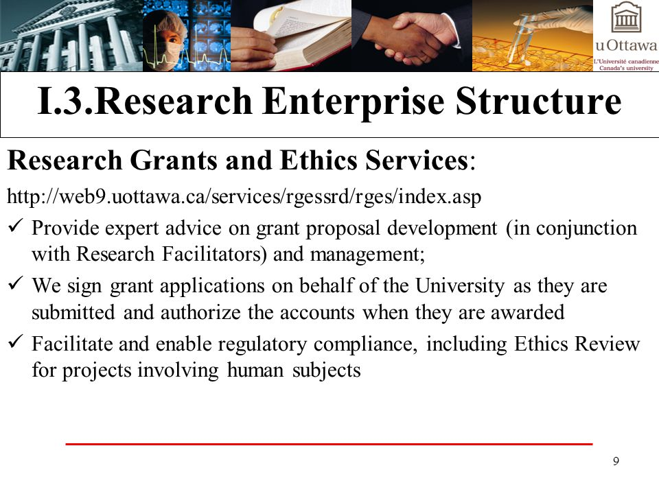 I.3.Research Enterprise Structure